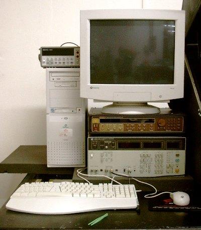The computer driven Hewlet Packard CV analyser.