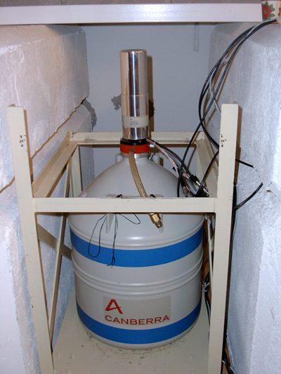 High Purity Germanium (HPGe) Gamma Ray Spectrometer.