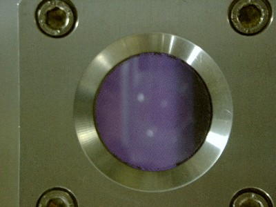 The  higher density of the inductively coupled plasma in the Oxford RIE allows for higher etch rates.