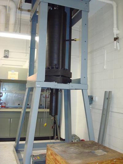 The commercial grade CdZnTe high pressure vertical Bridgman furnace.