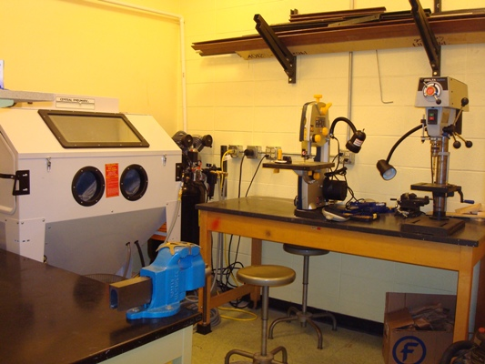 The small shop is used to maintain equipment in the SMART Laboratory.