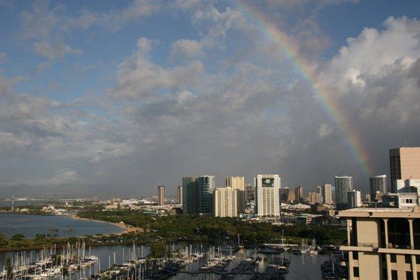 Overlooking beautiful Waikiki.