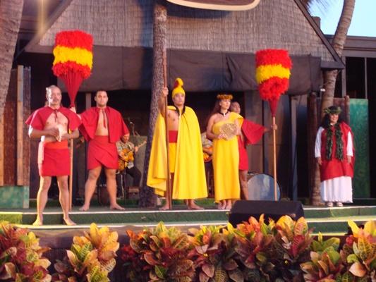 Hawaiian dancers at Germaine's Luau. Let the Luau begin!