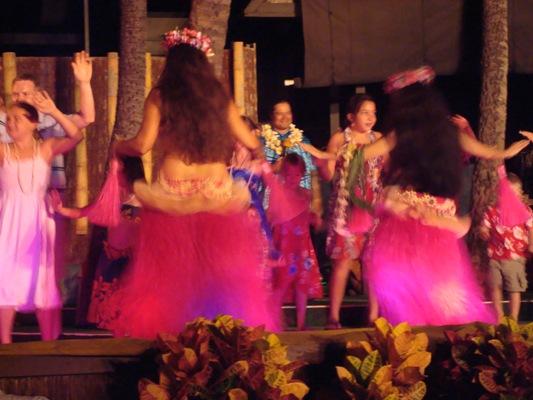 Hula dancers at Germaine's Luau.