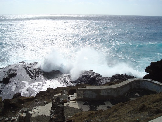 The blowhole, a waterspout on O'ahu.