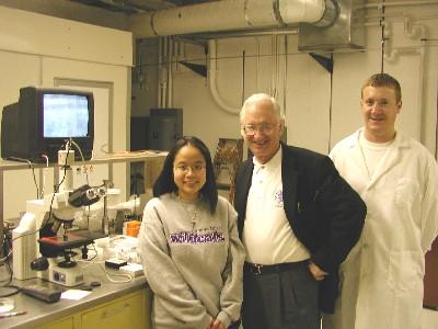 Elsa Ariesanti, Dr. Foulkes, and Martin Ohmes.