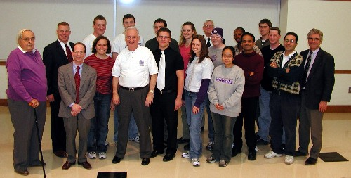The K-State ANS Chapter poses with Larry Foulkes.