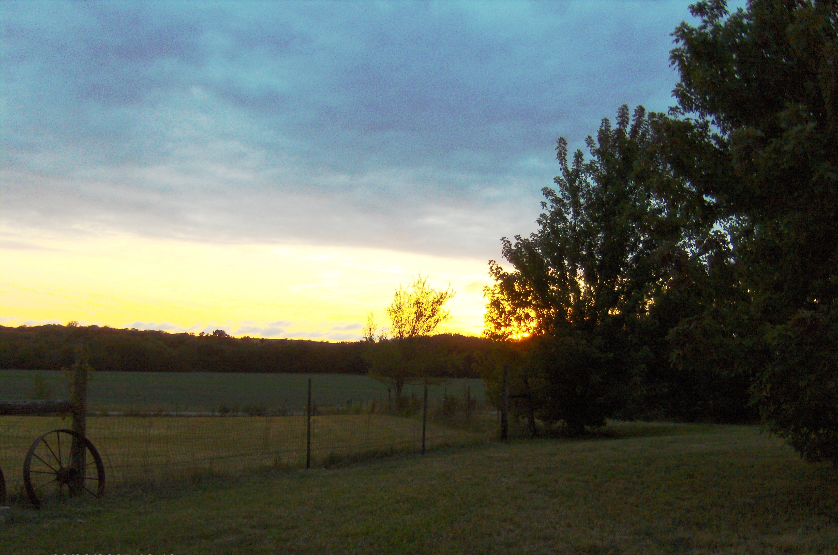 Sunset at the McGregor Home.