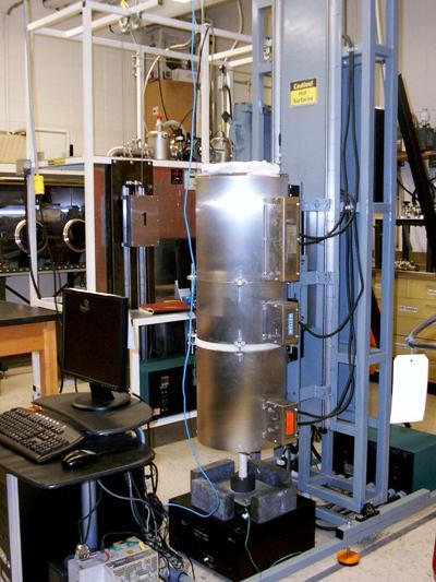 The slant Bridgman furnace used to grow LaBr3 growth.